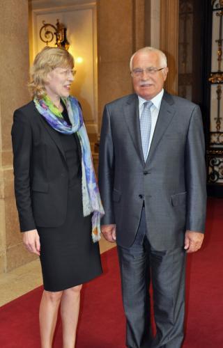 Václav Klaus a Dorothee Stapelfeldtová