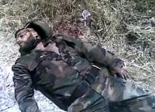 Mrtvý syrský voják