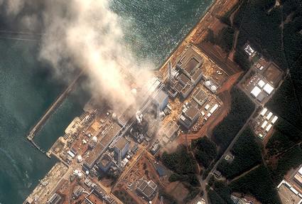 Poškozený reaktor v jaderné elektrárně Fukušima 1