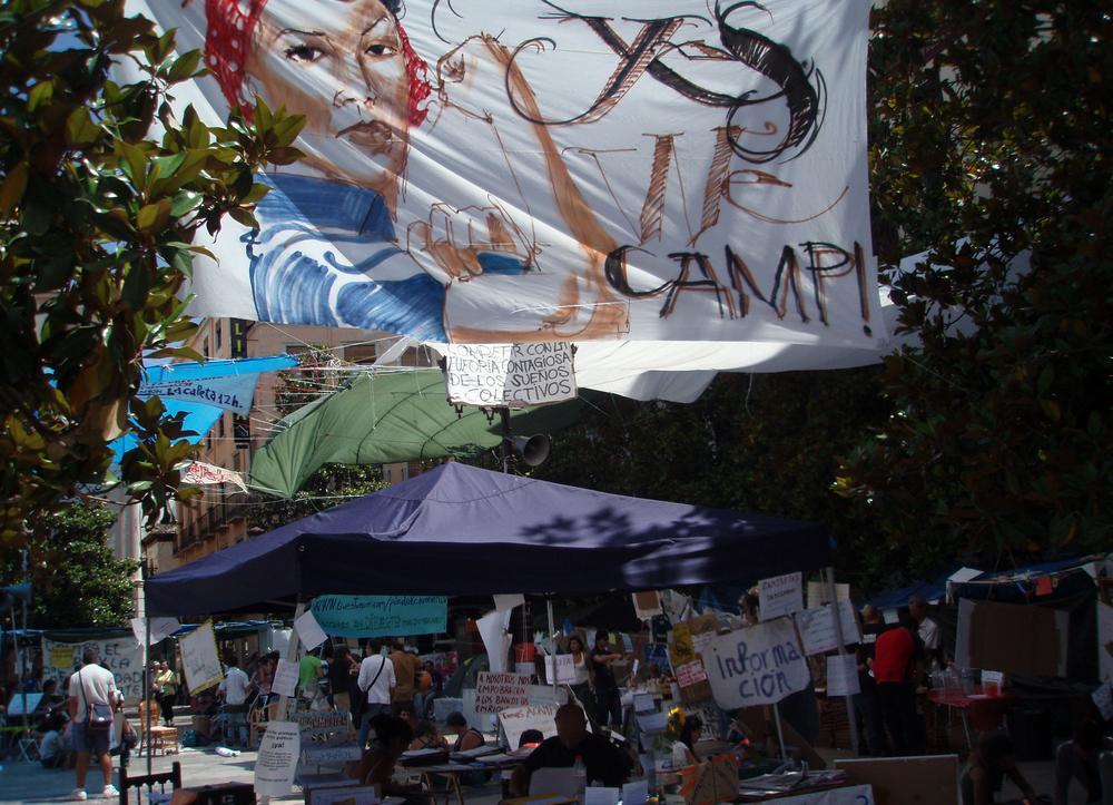 Demonstrace ve Španělsku