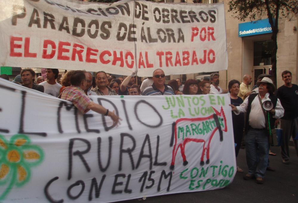 Španělé vyšli do ulic