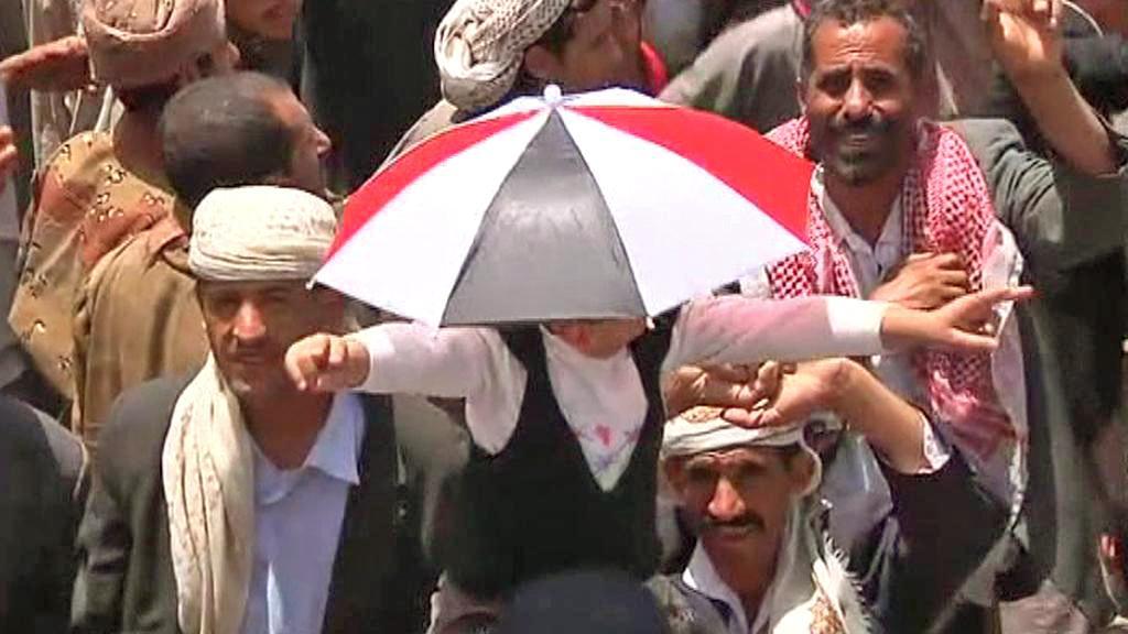 Jemenci slaví Sálihův odchod ze země