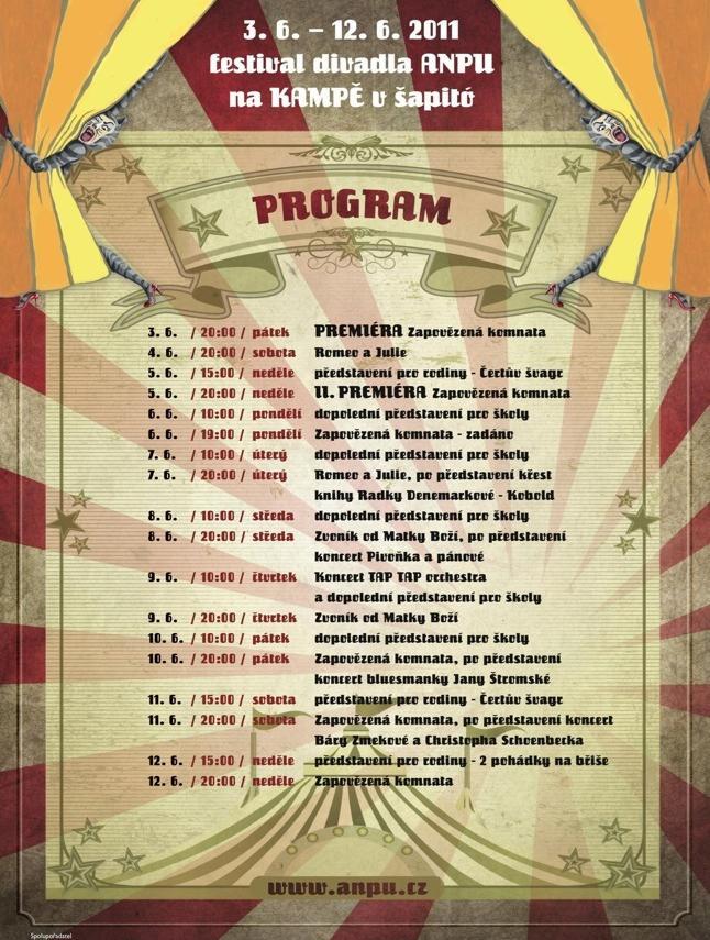 Festival ANPU 2011 / program