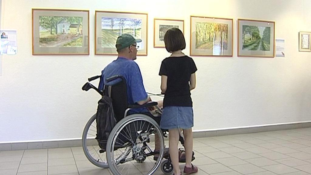 Handicapovaný na výstavě v píseckém muzeu