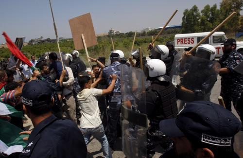Protesty Palestinců