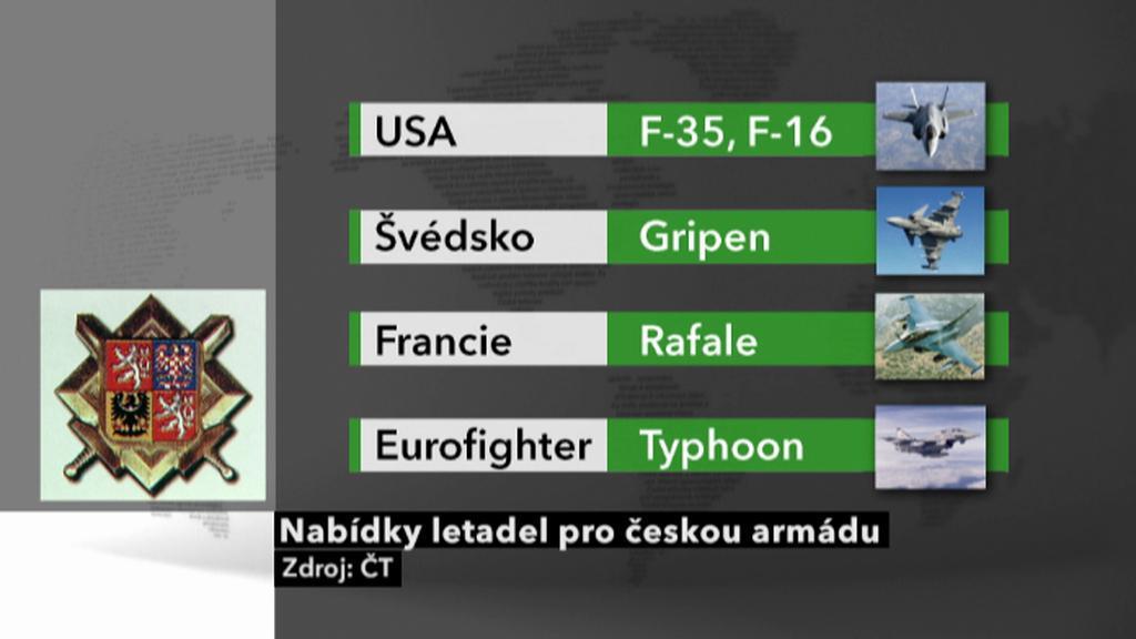 Nabídky letadel pro českou armádu