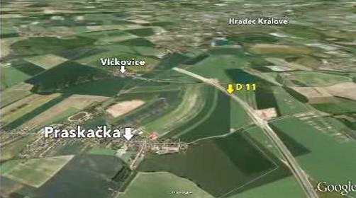 Pozemky Ludmily Havránkové kolem plánované D11
