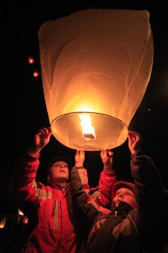 Vypouštění balonku štěstí