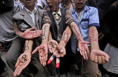 Protest proti jemenskému prezidentovi