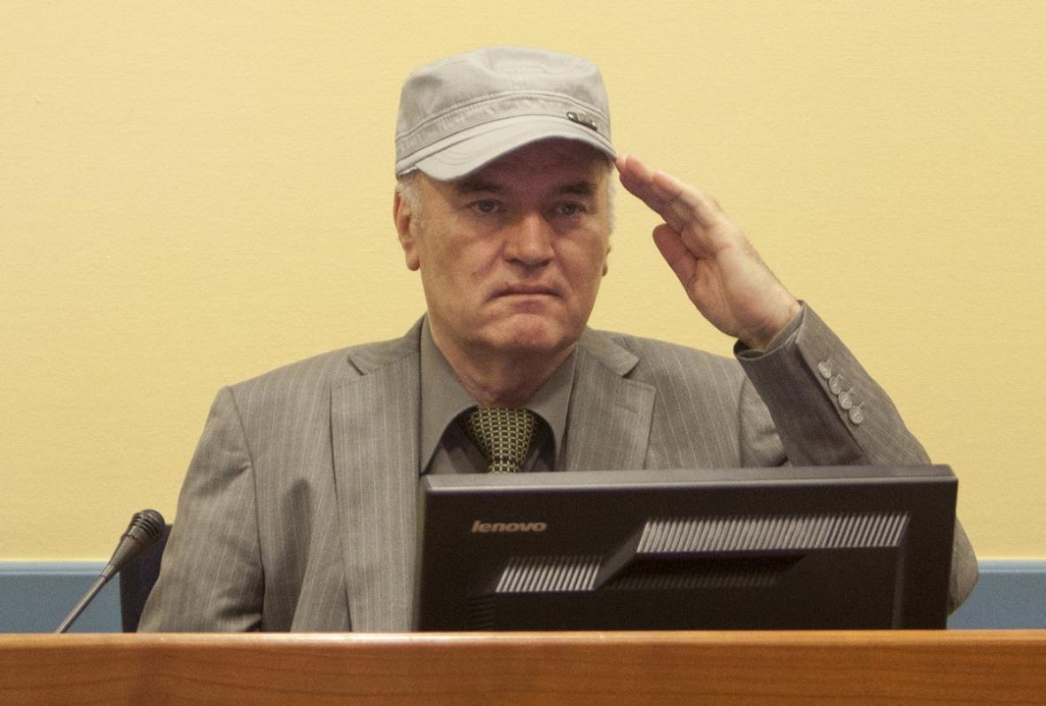 Ratko Mladić stanul před tribunálem v Haagu