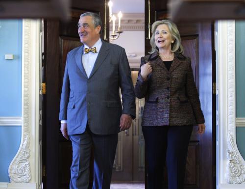 Karel Schwarzenberg jednal s Hillary Clintonovou