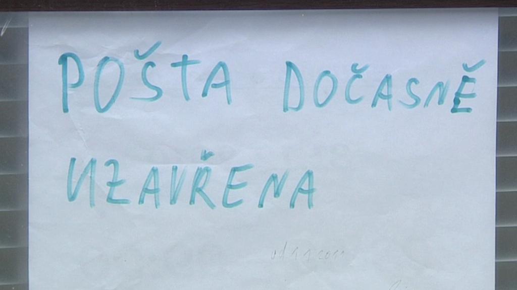 Uzavřená pobočka České pošty
