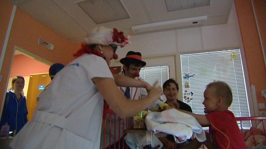 Vystoupení zdravotních klaunů