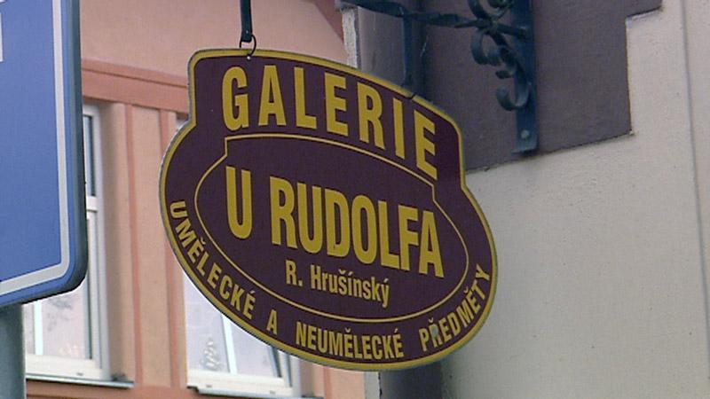 Vývěsní štít Galerie U Rudolfa