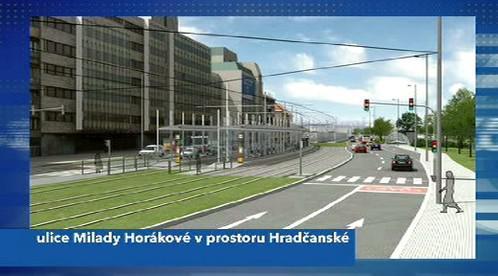 Vizualizace zrekonstruované Hradčanské