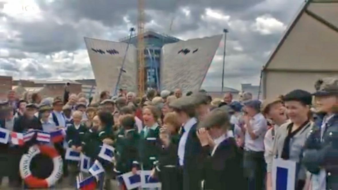 Belfastské oslavy výročí spuštění Titanicu na vodu