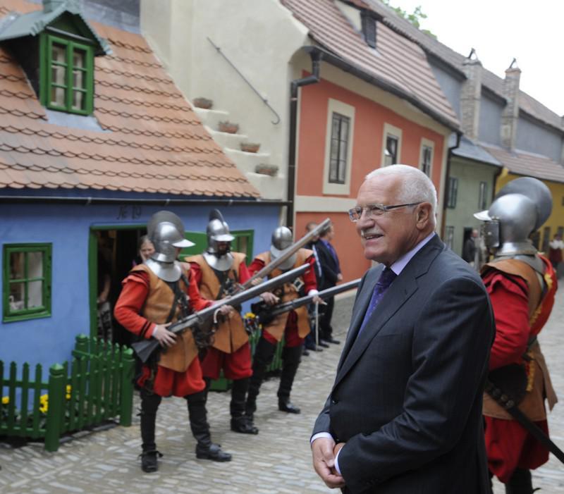 Václav Klaus ve Zlaté uličce
