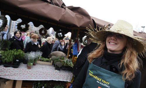 Farmářský trh v Praze