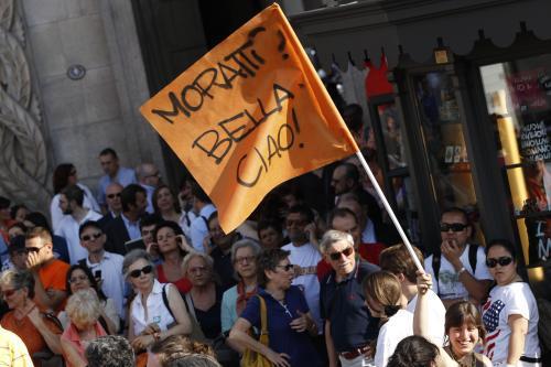 Italové oslavují v Miláně výsledky obecních voleb