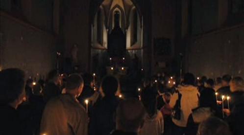 Interiér kostela ve Zvoli