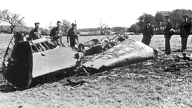 Vrak Hessova Messerschmittu Bf 110