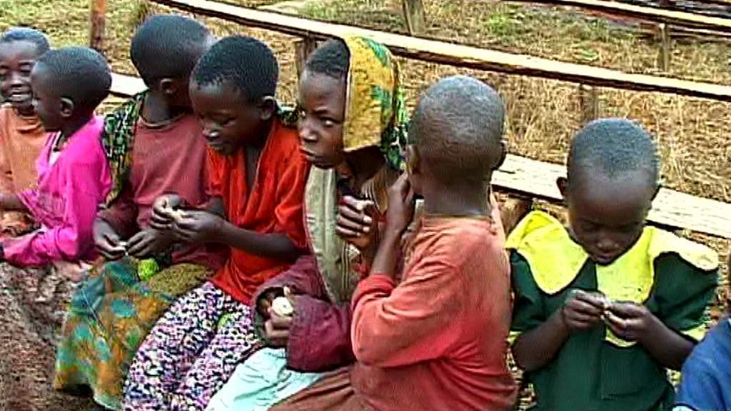 Tanzanské děti při hře