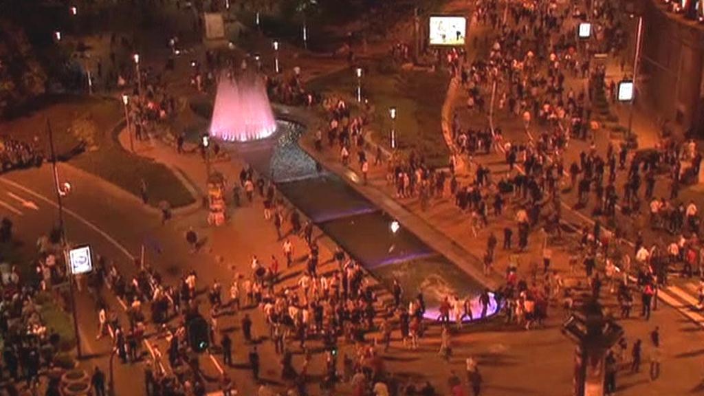 Policie se v Bělehradě střetla s přívrženci Mladiče