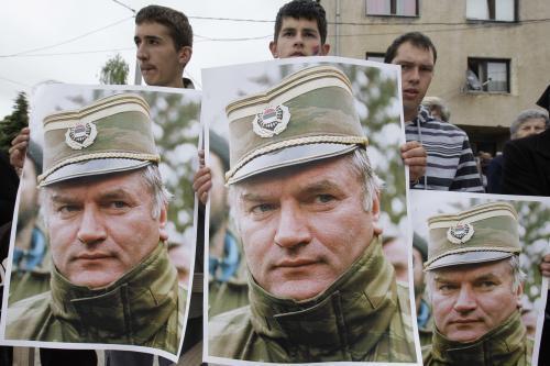 Protesty na podporu Ratka Mladiče