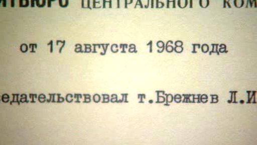 Dokument z jednání o Československu v roce 1968