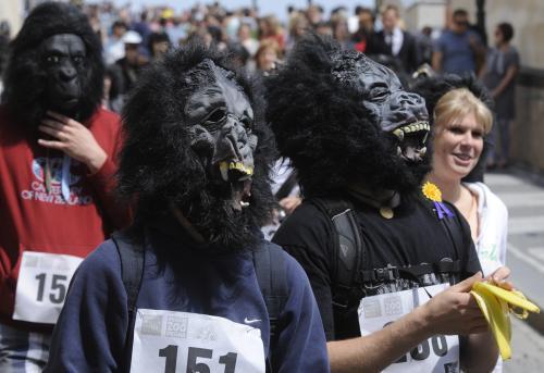 Běh goril v Praze