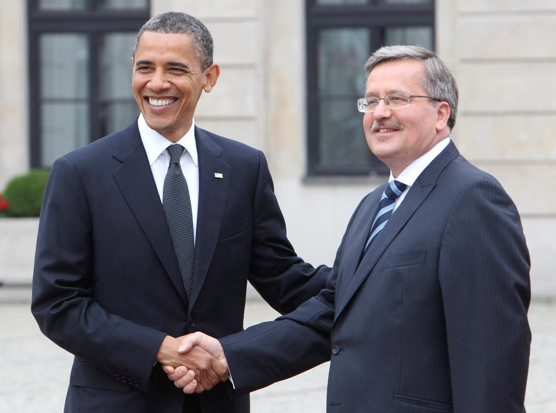 Barack Obama a Bronislaw Komorowski