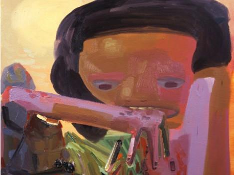 Dana Schutz / Self Eater 3, detail (2003)