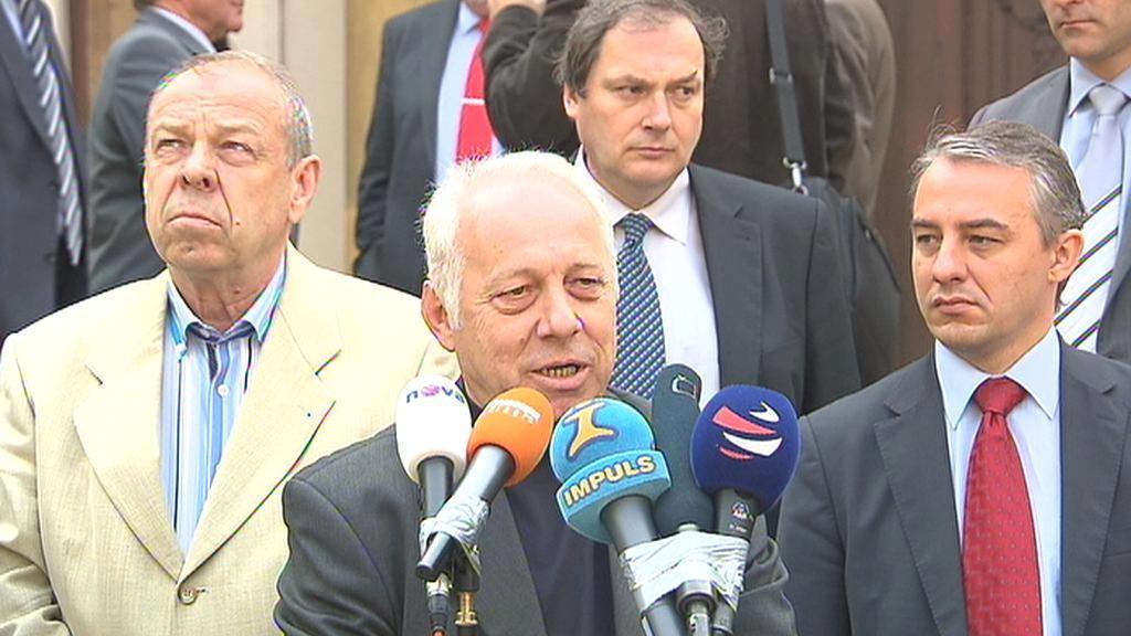 Bohumír Dufek po jednání tripartity