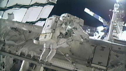 Astronauti Mike Fincke a Gregory Chamitoff