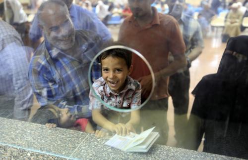 Otevření egyptsko-palestinské hranice