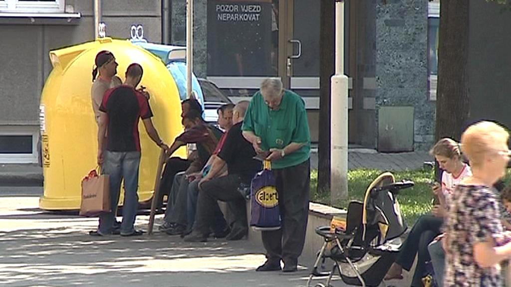 Bezdomovec v Karlových Varech