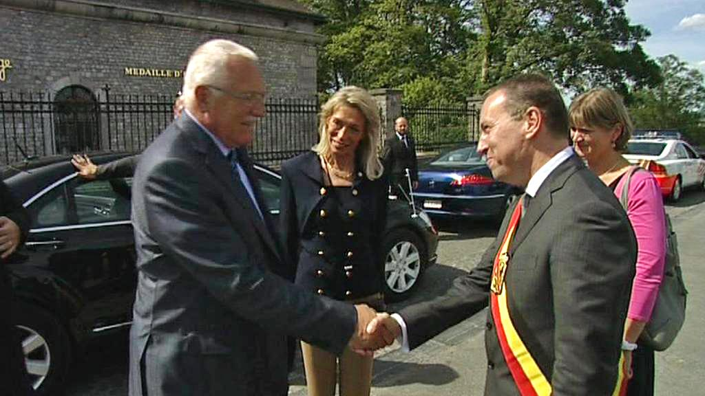 Václav Klaus na návštěvě Belgie
