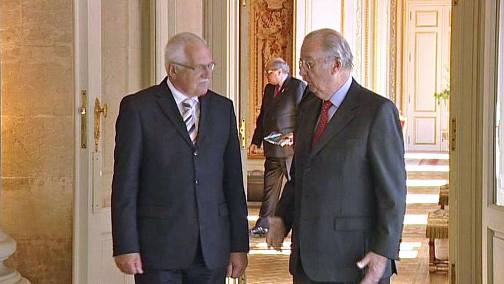 Václav Klaus a Albert II.