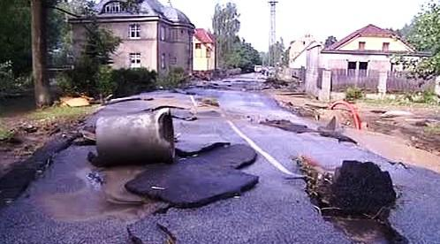 Zničená silnice