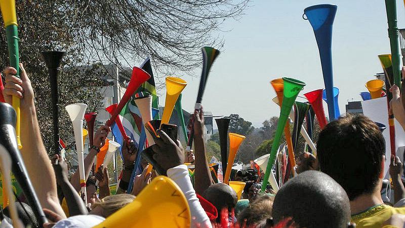 Vuvuzely jihoafrických fanoušků