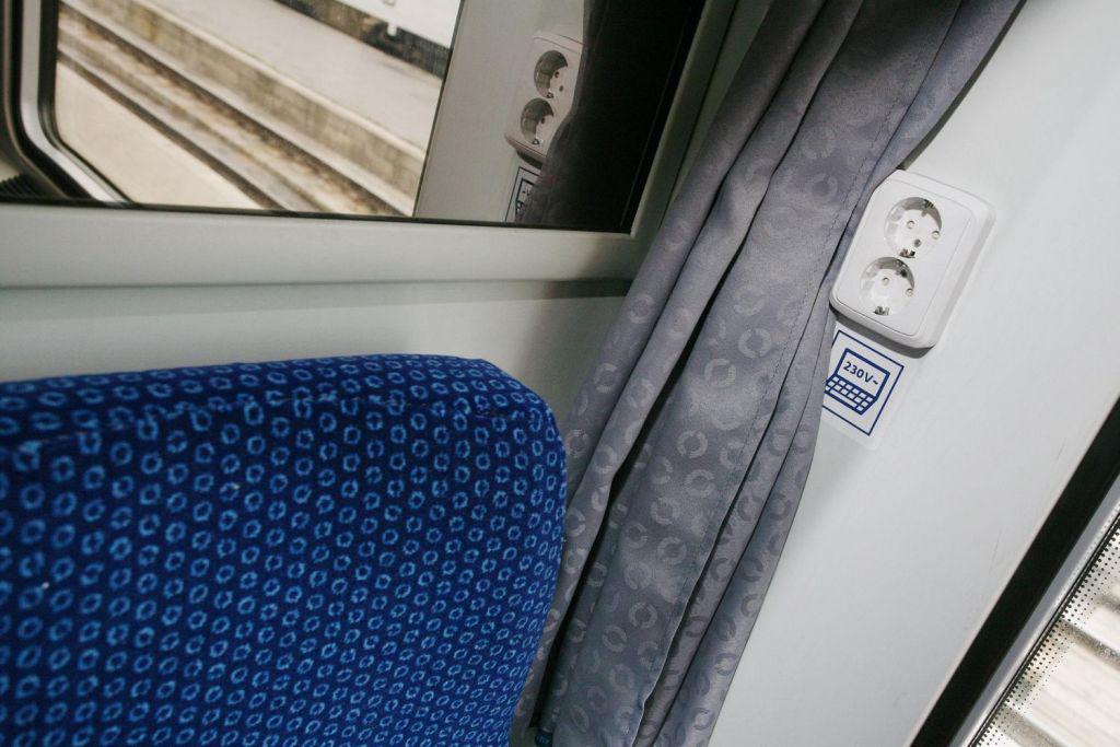 Zásuvka ve vlaku
