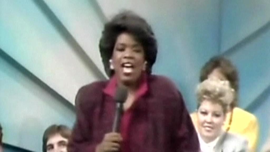 Oprah Winfreyová ve své první show v roce 1986