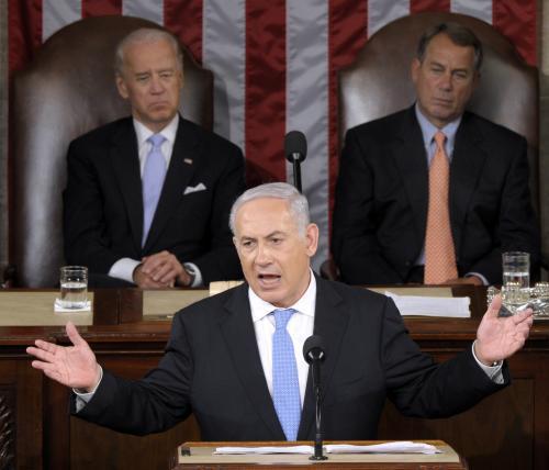Benjamin Netanjahu dnes v americkém Kongresu