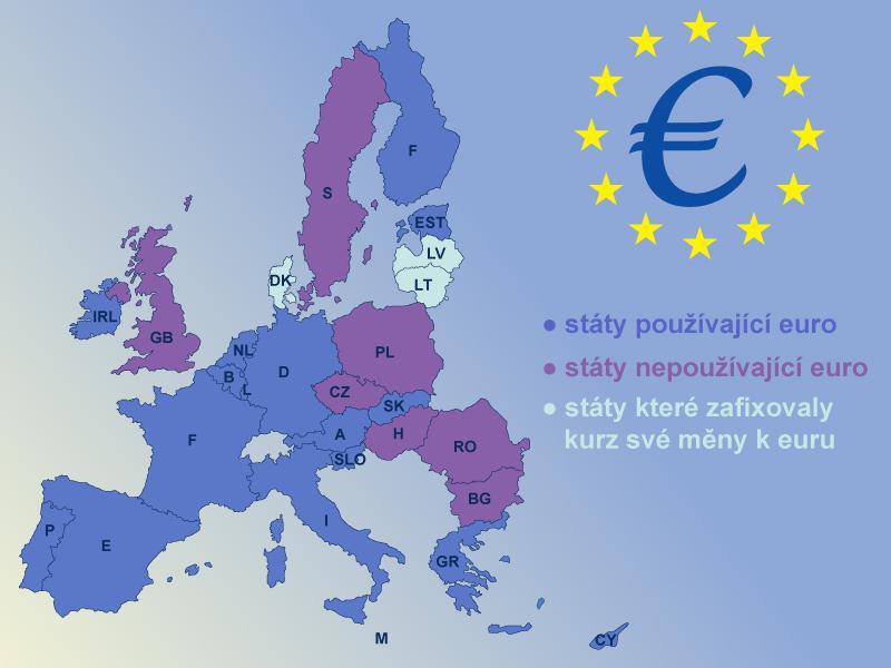 Mapa zemí eurozóny