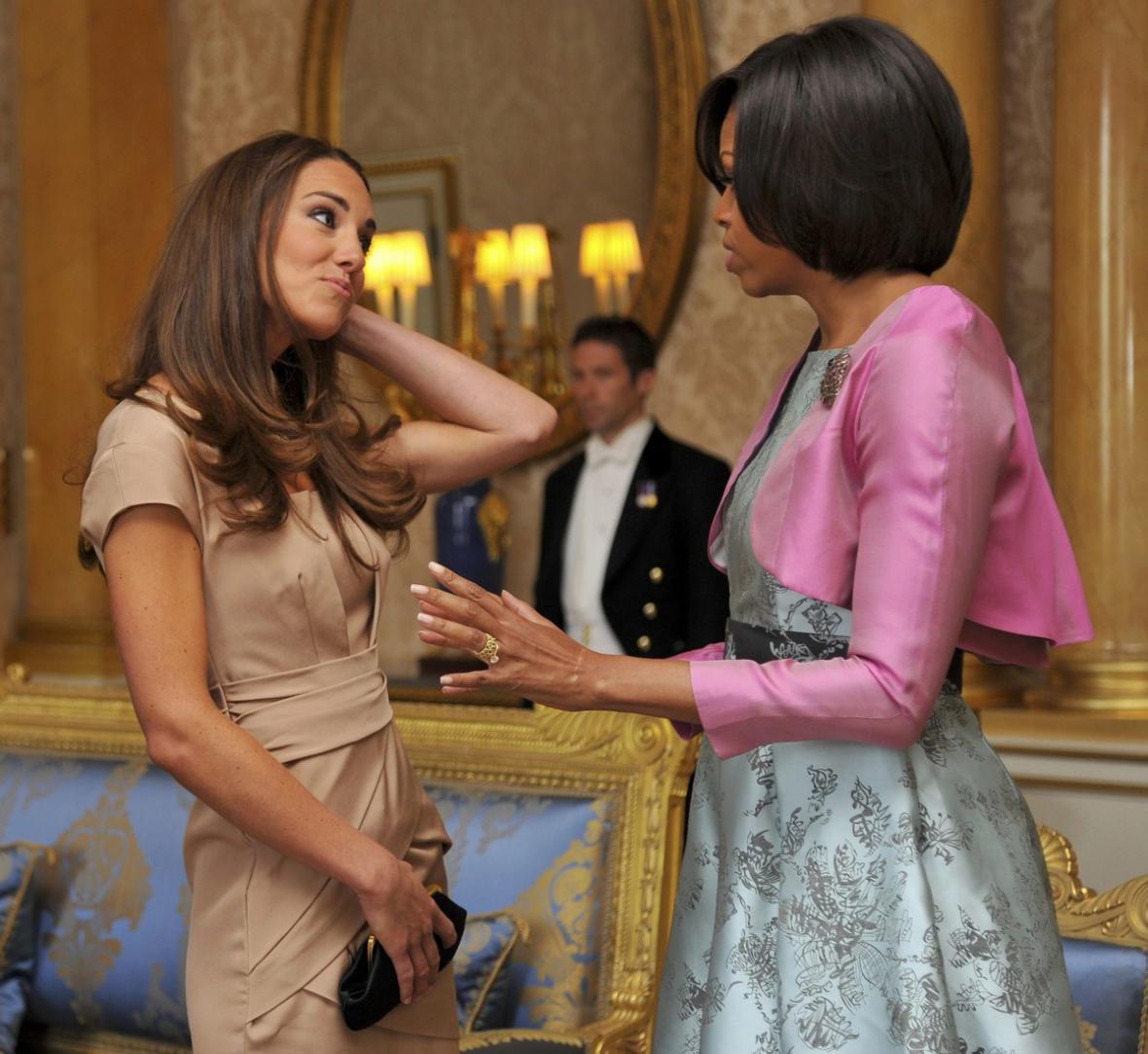 Michelle Obamová si popovídala s vévodkyní Catherine