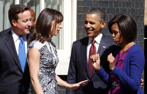 Obamovi navštívili rezidenci britského premiéra