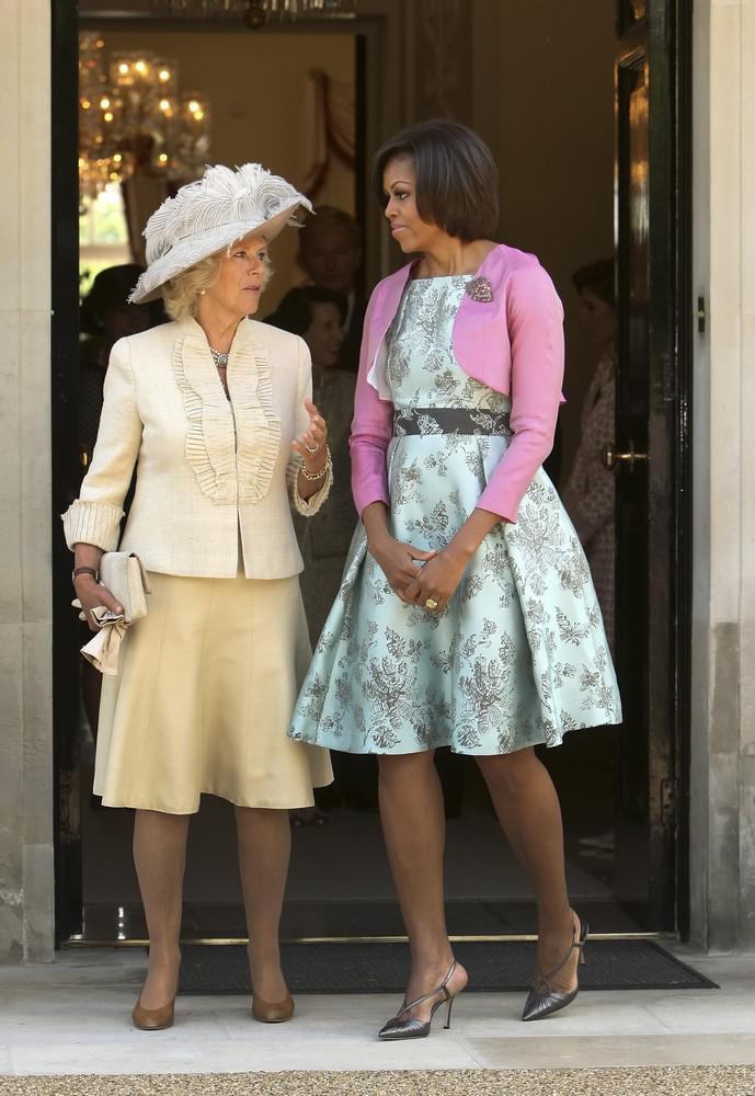 Michelle Obamová s Camillou