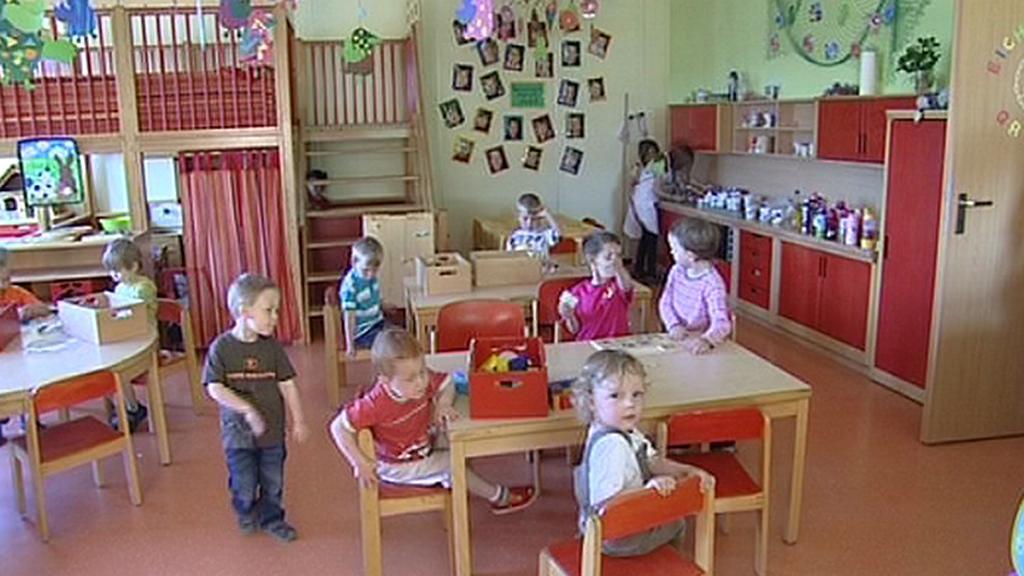 Děti ve školce v bavorském Schirndingu