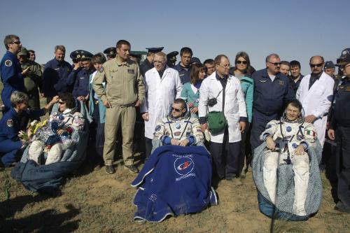 Z ISS se vrátili na Zem tři kosmonauti