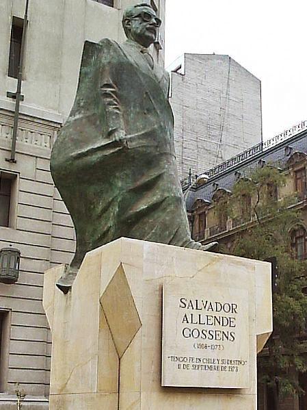 Pomník Salvadora Allendeho